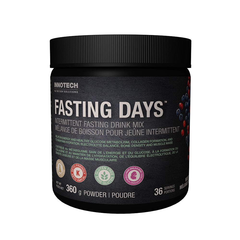 Innotech Nutrition Fasting Days Intermittent Fasting Drink Mix – Mixed Berry 360g Natural Mixed Berry