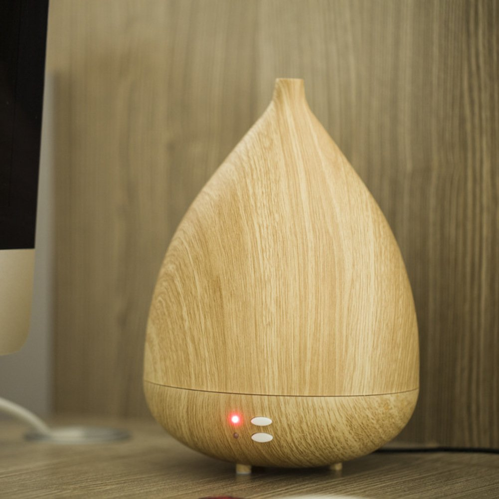Aromatherapy essential oils diffuser wood humidifier ultrasonic wave oil silent auto power off zen-B 16x22cm(6x9inch)