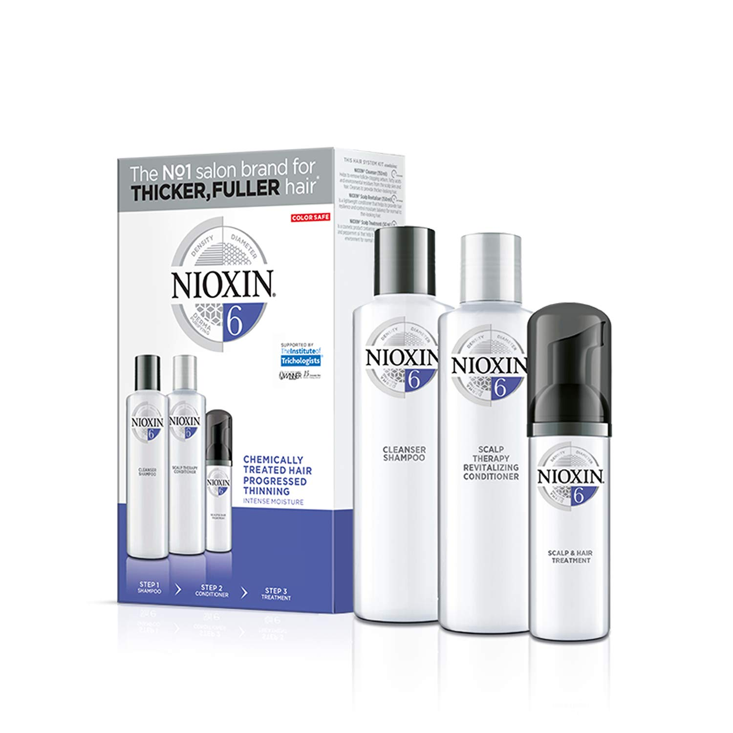 Nioxin Sistema 6 Kit - Champú, Acondicionador y Tratamiento - 150+150+50ml: Amazon.es