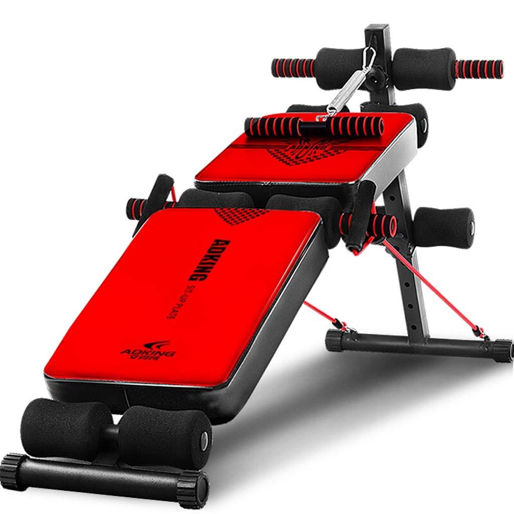 赤の調整可能な腰掛け椅子、究極のフィットネス機器、人間工学に基づいたデザイン、180°伸び、360°ツイスト   B07R9X5V2Y