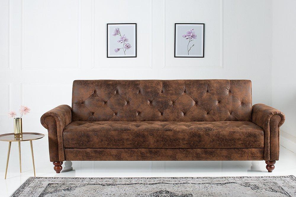 Riess Ambiente Design Sofa Maison Belle Affaire 220cm Antik Braun