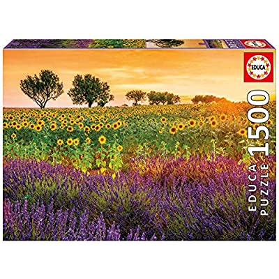 Educa Borras 1500 Field Of Sunflowers And Lavender Puzzle Colore Vario 17669