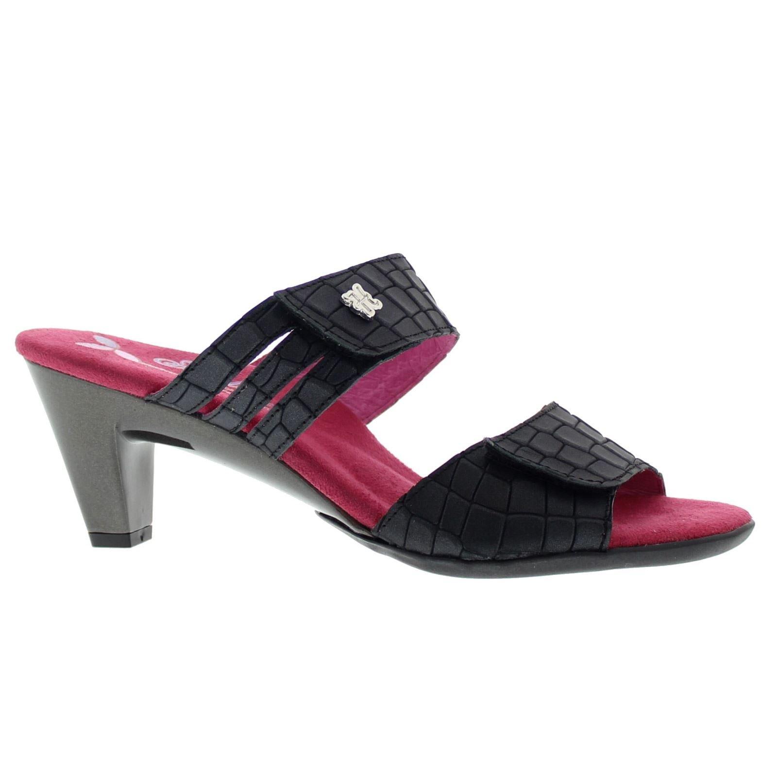 Helle Comfort Helle Fashion Comfort Women's Ela Black 2 Velcro Slide Size 40