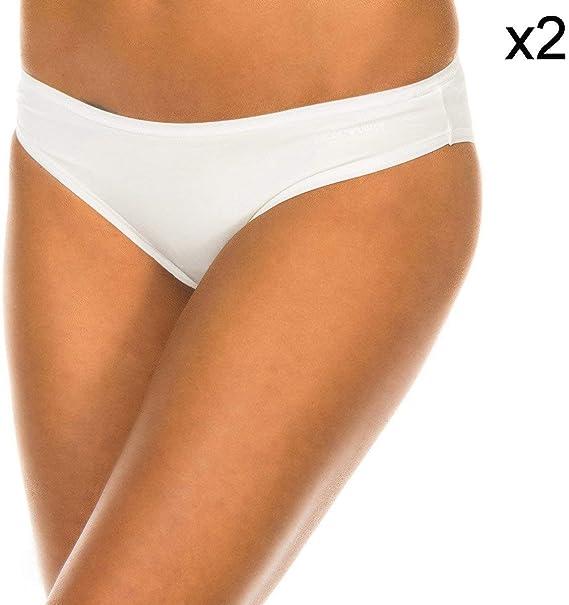 Emporio Armani Underwear Pack-2 Braguitas Microfibra E.Arma: Amazon.es: Ropa y accesorios