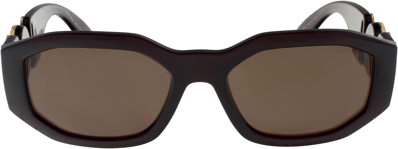 Brown VE4361-388-73-53 Transparent//Red Frame Versace VE4361 Sunglasses 388//73-53