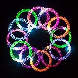 Led Bracelets 12 Pack + 12 Replacement Batteries