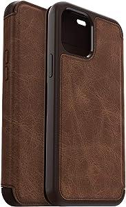 OtterBox Strada Series Case for iPhone 12 Pro Max - Espresso (Dark Brown/Worn Brown Leather)