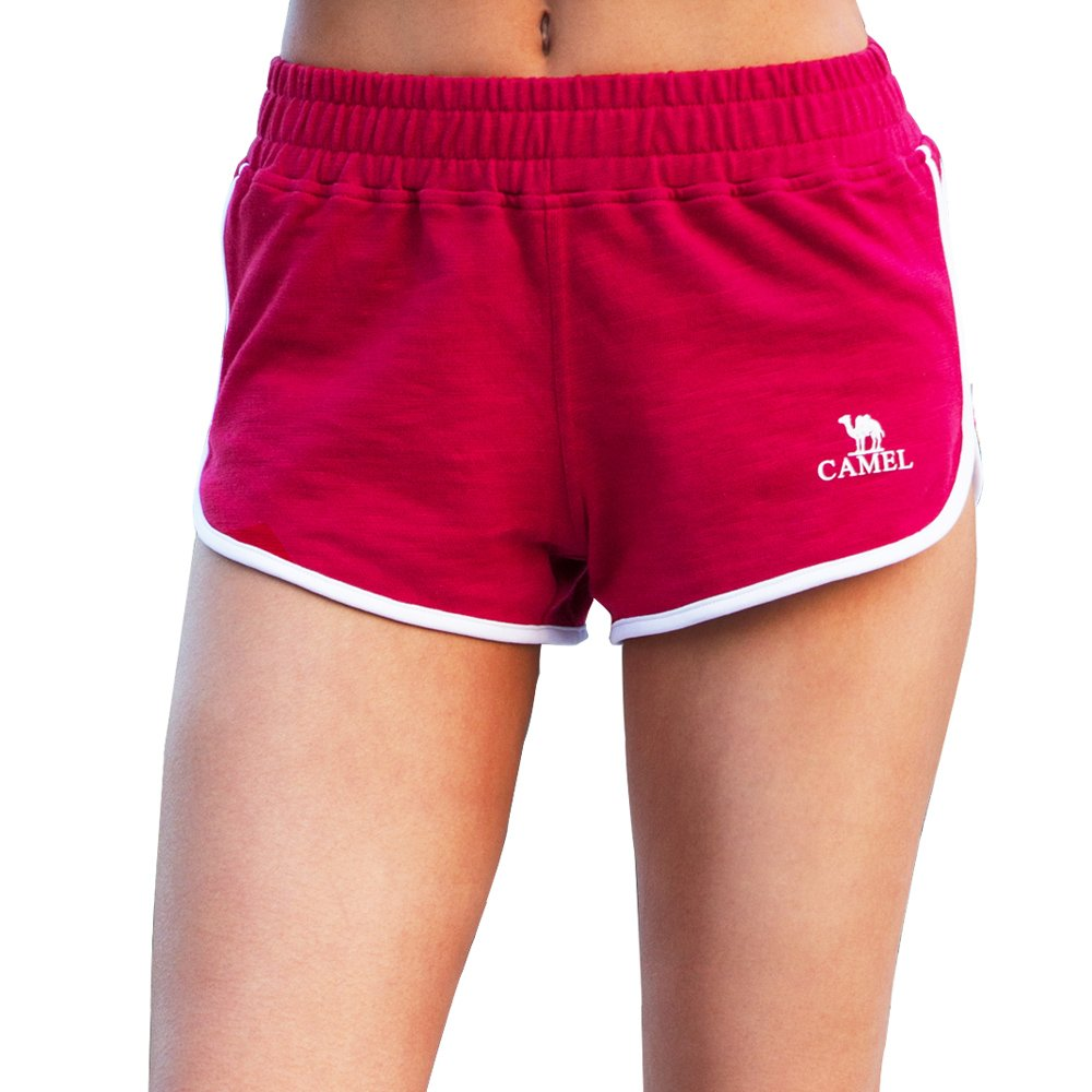 Camel Workout Lounge Shorts for Women Athletic Running Jogging Cotton Sweat Shorts L