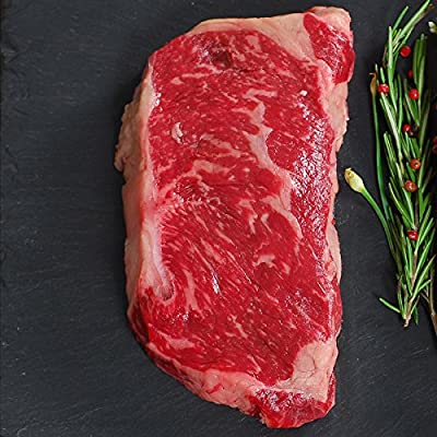 Australian Wagyu Beef Strip Loin, MS6, Whole, Cut To Order - 13 lbs, 1 1/4-inch steaks