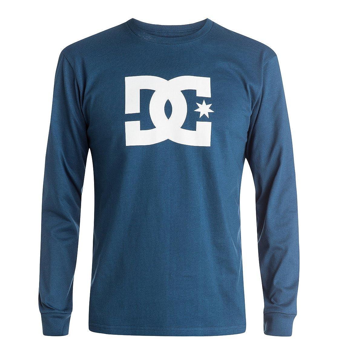 DC Men's Star Long Sleeve Logo Tee Shirt DC Young Men's
