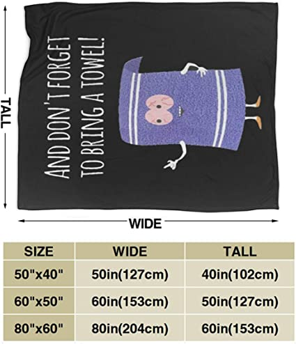 Funda de edred/ón de franela adecuada para todo tipo de sof/á Towelie oficina Lphdfoxh1 South Park negro 50x40 Franela. suave y c/ómoda.