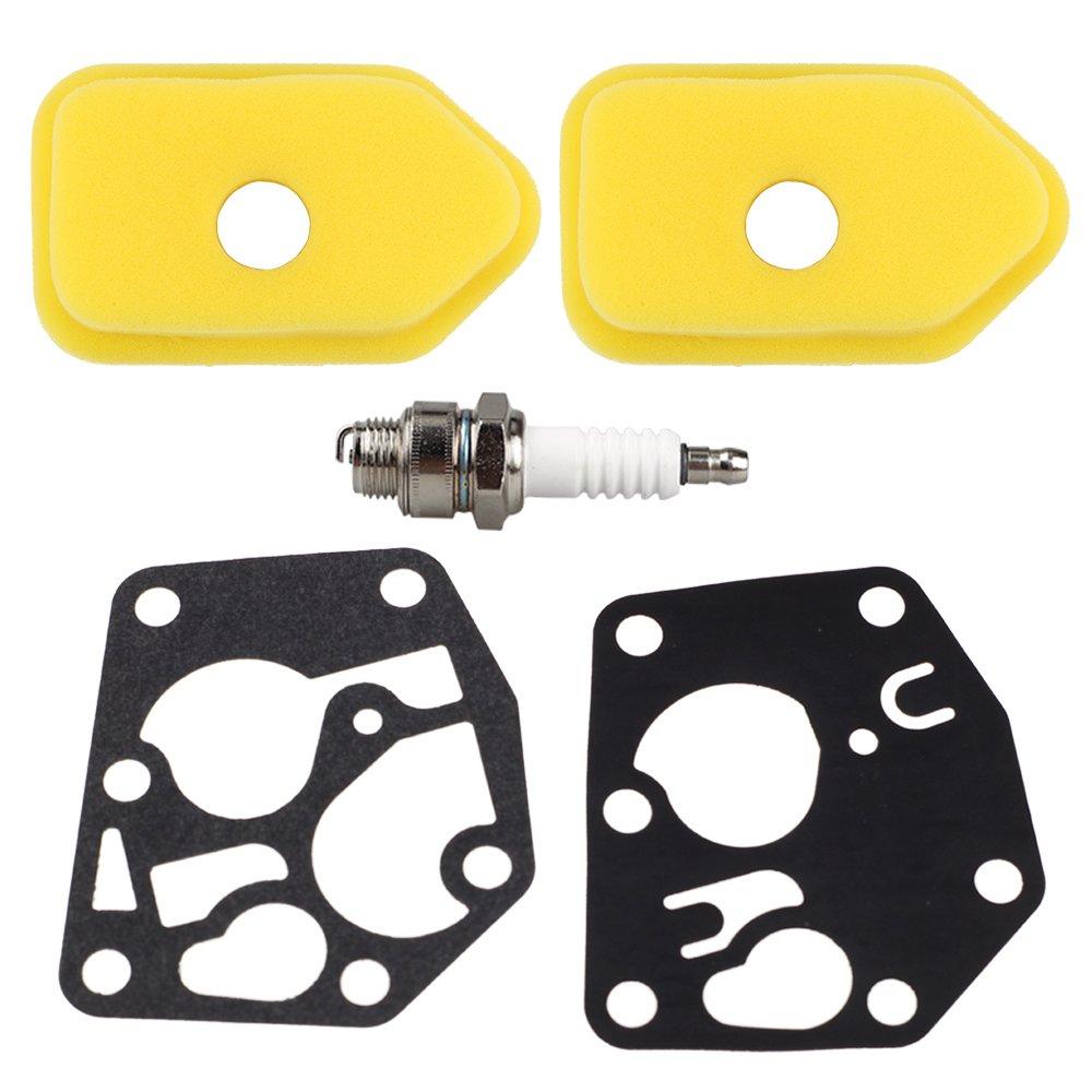 2Pcs Carburetor Carb Diaphragm Gasket for Briggs /& Stratton 270026 272538 272538S