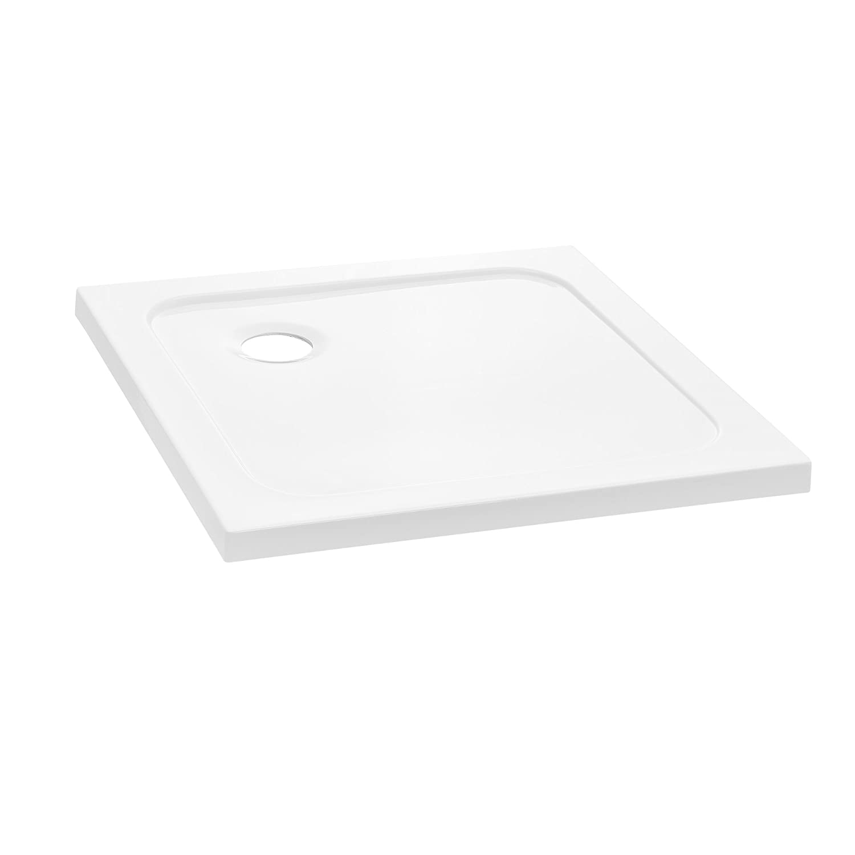[neu.haus] Piatto doccia 70x70cm bianco puro quadrato extra piano bagno