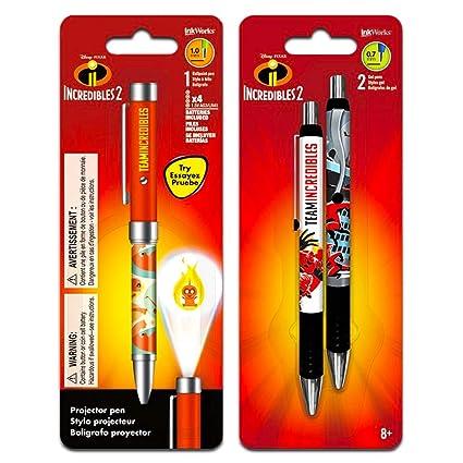 Amazon.com : Disney Pixar Incredibles Projector Pen Set - 3 ...