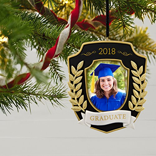 Hallmark Keepsake Christmas Ornament 2018 Year Dated Graduation Gift Congratulations Porcelain and Metal Picture Frame, Photo Frame by Hallmark (Image #5)