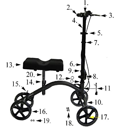 Drive Medical Left Hand Brake for 790 Knee Walker, 0 5 Pound