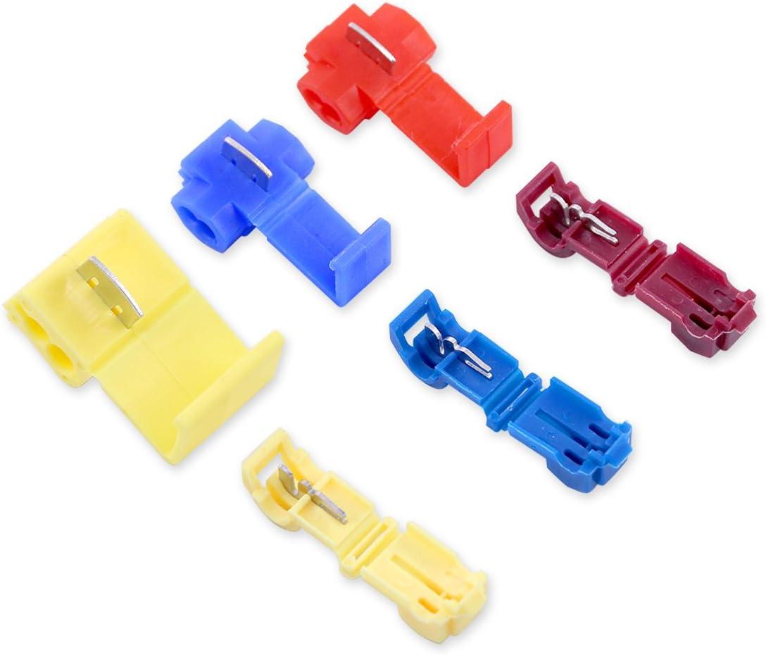 20pcs Brass And Plastic Scotch Lock Splice Terminal Connector Hard Soft Wire