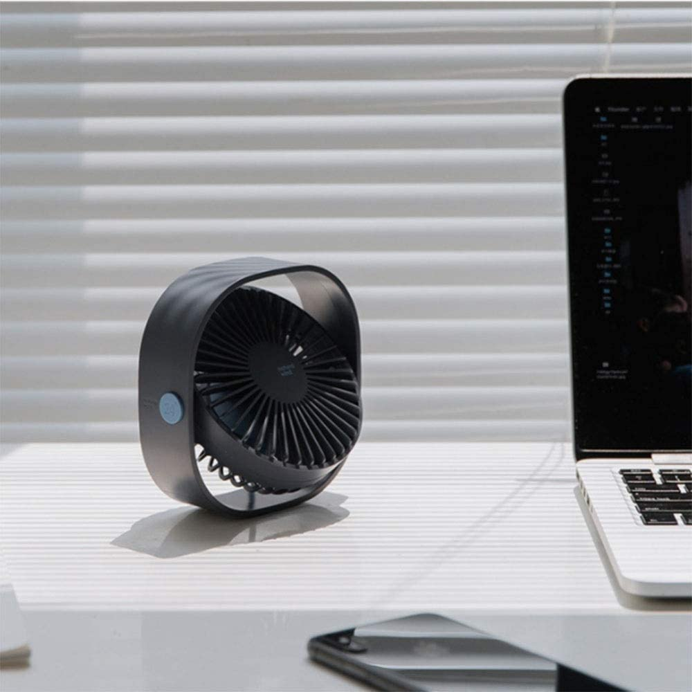 Quiet Operation Dygzh Mini Desktop Personal Fan Mini Table Fan Personal Fan Adjustable tilt with USB Powered 3 Speed Home//Office//Bedroom//Outdoor Strong Wind in The Home Office