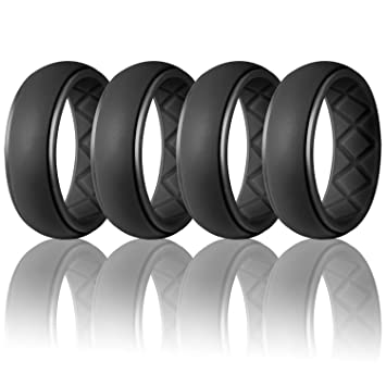Rubber Wedding Bands.Egnaro Silicone Wedding Ring For Men Particularly Breathable Mens Rubber Wedding Bands Size 8 9 10 11 12 13 For Athletes Crossfit Workout