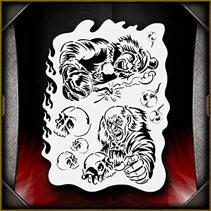 Clowns 3 Airbrush Stencil Template Paint Airsick