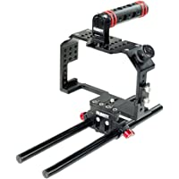 CAMTREE Filmcity Camera Cage with Top Handle and Accessories for Panasonic Lumix GH4/GH3 and Sony A7/A7r/A7s