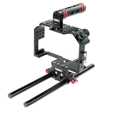 Filmcity jaula de cámara para Panasonic Lumix GH4/GH3 y Sony A7 ...