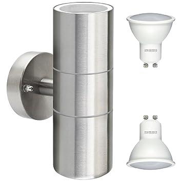 Gu10 8watt Led Wall Light Stainless Steel Double Outdoor Up Down Wall Light Ip65