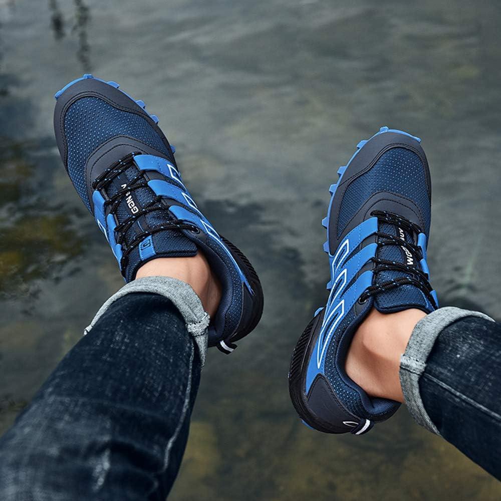 big horse Herren Wanderschuhe Für Atmungsaktive Laufschuhe,Mesh Fitness Sport Sneaker,Trailrunning-Schuhe,Leichtgewicht,Atmungsaktiv,Rutschfest. Blau
