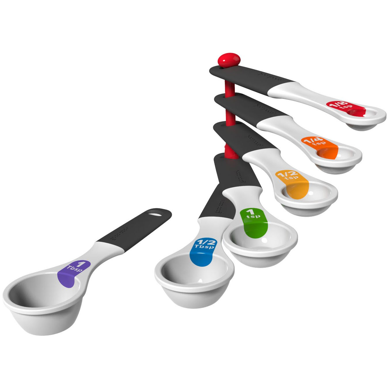 Good Cook Touch 6 Piece Measuring Spoon Set, White 20328