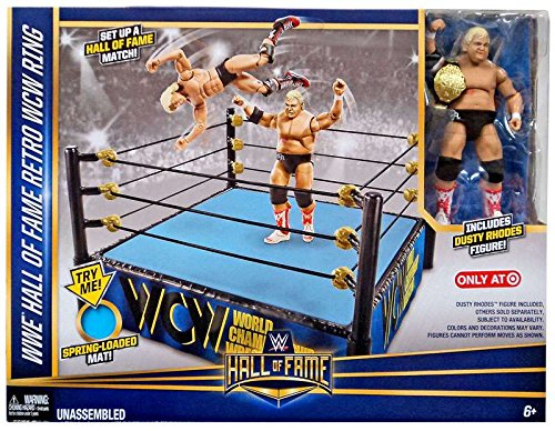 WWE Wrestling WWE Hall of Fame Retro WCW Ring Exclusive Playset [Includes Dusty Rhodes Figure] by WWE