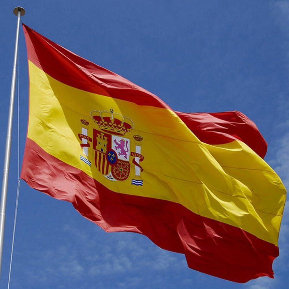 Bandera de Moresave de poliéster resistente a la intemperie de 1,52 m x 1,82 m, banderas multicolor, poliéster, Bandera de España, talla única: Amazon.es: Deportes y aire libre