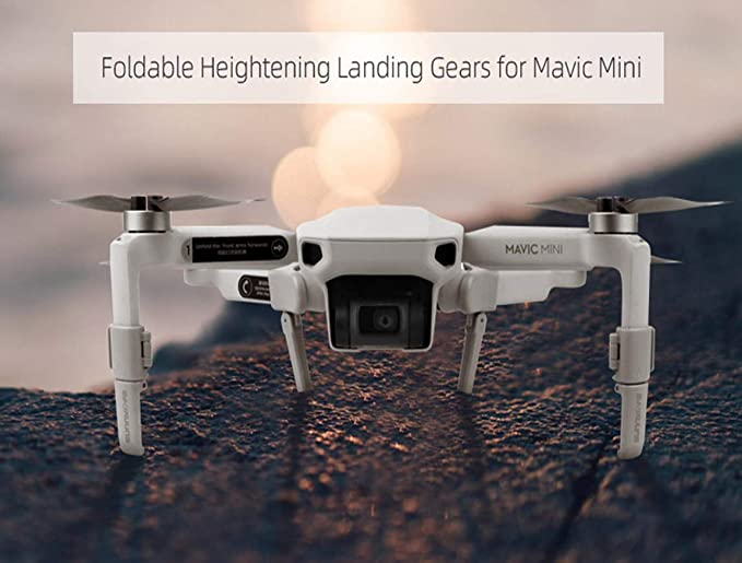 Tineer Folding Increase Height Landing Gear Extended Stable Replacement Extension Legs Feet Pack for DJI Mavic Mini Drone Accessory