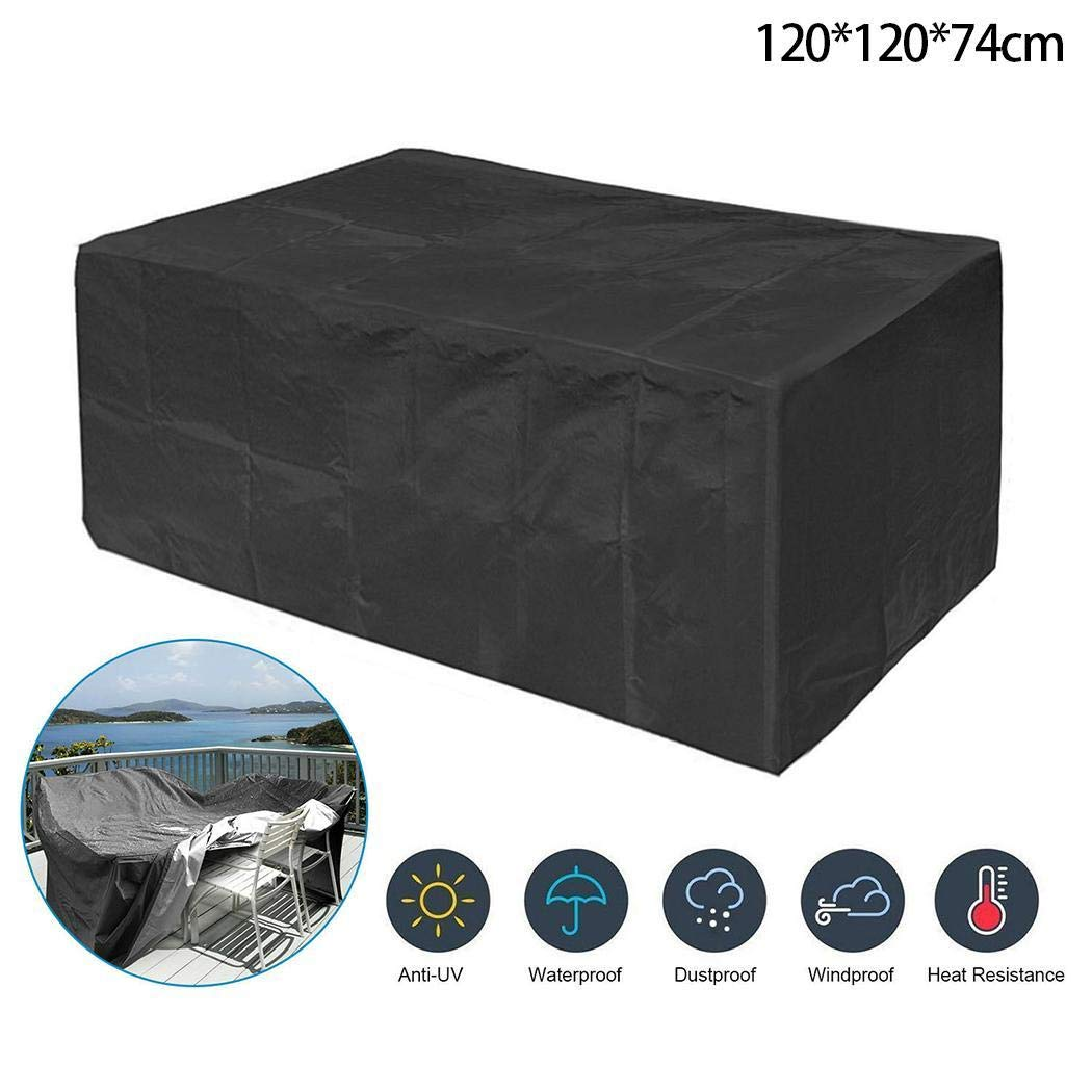 Kindes 120 x 120 x 74cm Outdoor Furniture Cover Garden Dustproof Waterproof Protective Cover Shade Sail Hardware