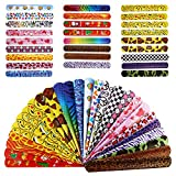 Bracelets Party,72 Pack Slap Bracelets (26 Design),Slap Bracelets Party Bracelets Toys Bands Emoji Birthday Christmas Party Favors Classroom Rewards for Boys Kids Girls