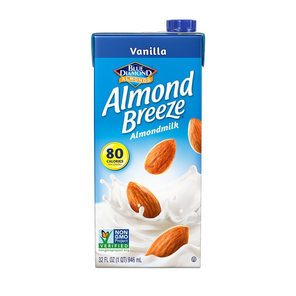 Almond Breeze Dairy Free Almondmilk, Vanilla, 32-Ounce Boxes (Pack of 12)
