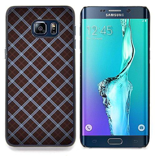 For Samsung Galaxy S6 Edge Plus - Wallpaper Pattern Random Design Stripes /Design Hard Plastic Protective Case Slim Fit Cover/ - Super Marley Shop -