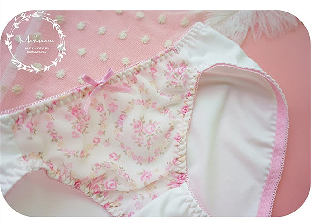 ac23737b92b4 Amazon.com: TOMORI Women's Cute Floral Panties Soft and Comfort Bow  Underwear Low Rise Panties for Teen Girls: Clothing