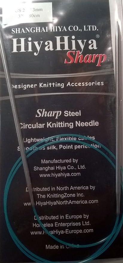 "HiyaHiya 32/"" Stainless Steel Circular Knitting Needles"