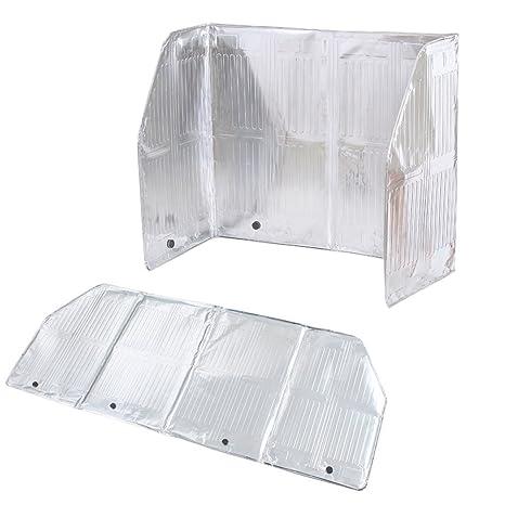 BESTONZON - Protector de salpicaduras de aceite de cocina (aluminio, 120 x 50 cm