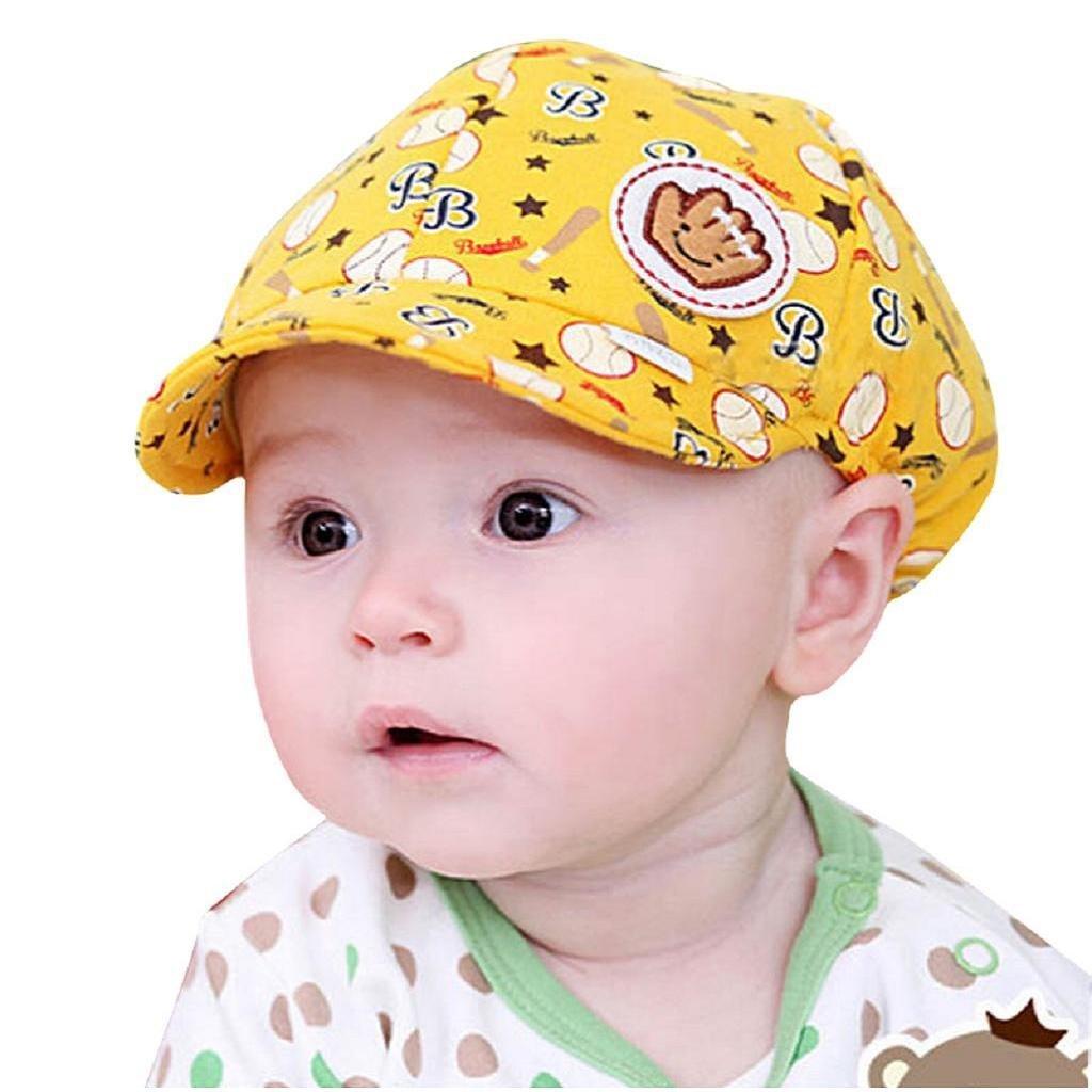 Koly Bebé Sombreros y gorras, Sombrero Pesca Para Bebé Niños, Sombrero de béisbol (Amarillo) [Clase de eficiencia energética A+++]