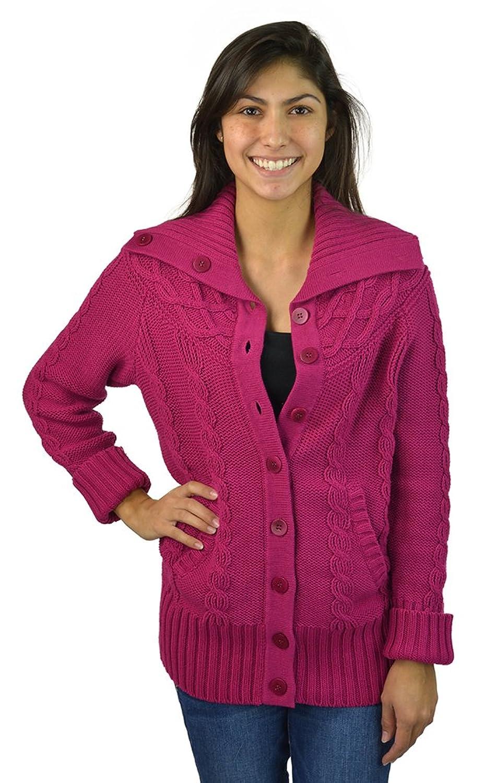 Jones New York Women's Long Sleeve Sweater Medium Berry