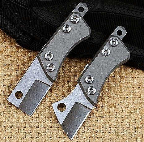 D2 titanio CT-4 Multiherramienta Cuchillo de hoja fija ...