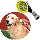 Wondurdog Quality Outdoor Dog Wash with All Metal Adapter | Garden Hose Attachment | Innovative Shower Brush w/Splash…