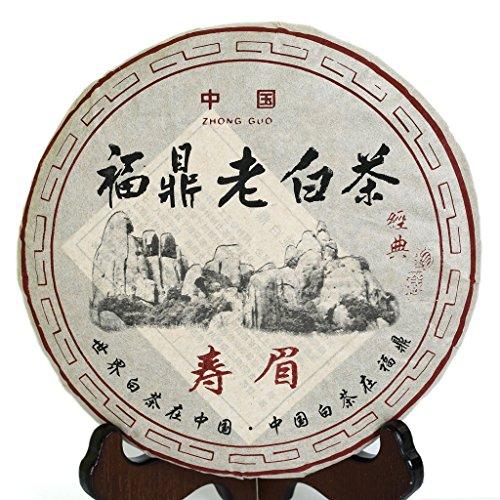 350g (12.3 oz) 2008 Year FuDing Organic Premium Shou Mei Long Life Eyebrow Aged Chinese White Tea -