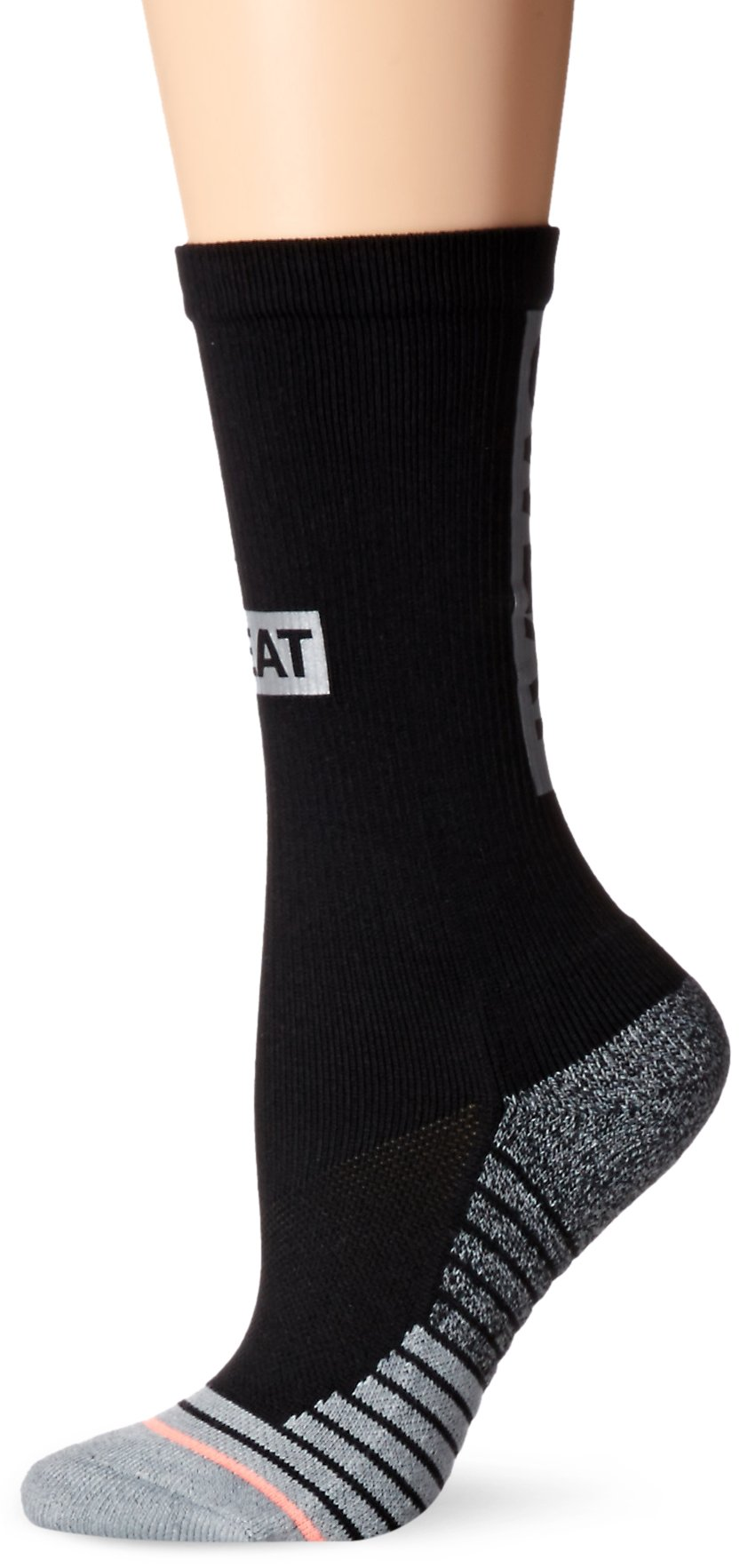 Stance Women's Support Athletic Crew Sock, Black, Small