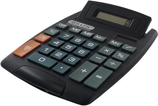 Bazic 8-Digit Large Desktop Calculator with Adjustable Display Pack of 2