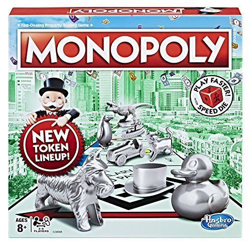 Hasbro Com Monopoly - Hasbro Monopoly Board Game with Speed Die, Game Night, Ages 8 and up (Amazon Exclusive)