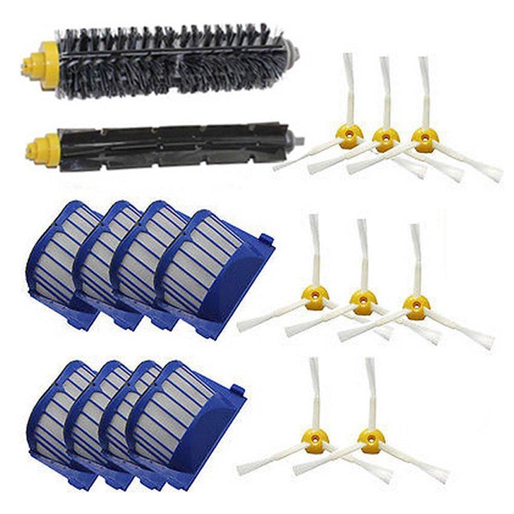 LOVE(TM)Bristle Brush + Flexible Beater Brush + side Brush for Robot 600 Series 610 620 625 630 650 655 660