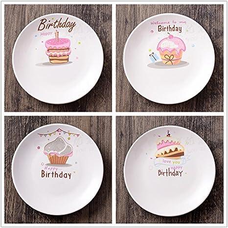 Piatti In Ceramica Per Bambini.Shuchangle Piatti In Ceramica 4 Piatti Da Dessert Cartone