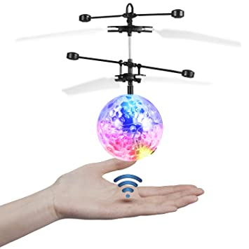 Etpark RC Flying Ball Crystal Flashing LED Light Toy Infrared Induction Helicopter